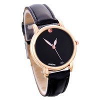 Womens Concise Style Leather Watch Best Gift