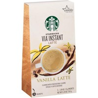 Starbucks VIA Latte Vanilla Latte Specialty Coffee Beverage, 5 count, 5.36 oz - Walmart.com