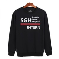 Seattle Grace Hospital Intern Sweatshirt Sweater Unisex Adults size S to