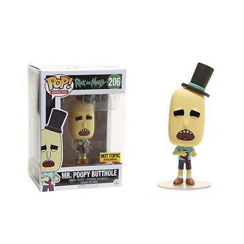 Funko Rick And Morty Pop! Animation Mr. Poopy Butthole Vinyl Figure Hot Topic Exclusive