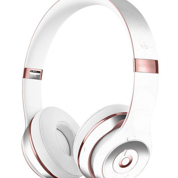 Marbleized Light Gray Full-Body Skin Kit for the Beats by Dre Solo 3 Wireless Headphones