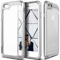 The Silver & Clear Polycarbonate Bumper iPhone 6/6s Case