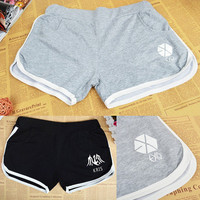 EXO Hot Short Pants Korean Cotton Shorts K-pop XOXO SM Kris Luhan Sehun Chanyeol