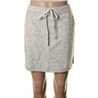 Two by Vince Camuto Womens French Terry Heathered Mini Skirt