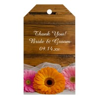 Daisy Trio Country Wedding Favor Tags