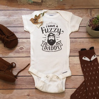 Bearded Daddy Onesuit®, Fathers Day Gift From Baby, Cute Baby Clothes, Fuzzy Daddy Onesuit, Beard Onesuit, Funny Baby, Dad Onesuit, Baby Boy