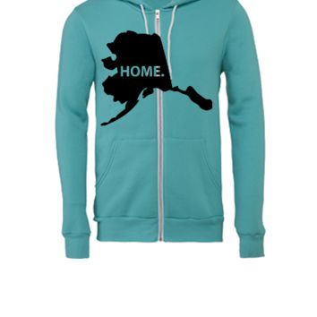 alaska - Unisex Full-Zip Hooded Sweatshirt