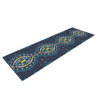 "Suzie Tremel ""Ogee Lace"" Navy Blue Yoga Mat"