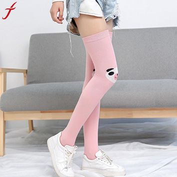 Casual Women Girl Casual Comfortable Catoon Knee High Thigh Socks