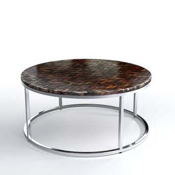 Antigua Pen Shell Coffee Table, Round