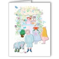 My shop Illustration greeting card