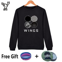 BTS Kpop Sweatshirt Women Korean Popual Bangtan Boys Autumn Winter BTS Women Hoodies Sweatshirts Wings Hip Hop Casual Clothes