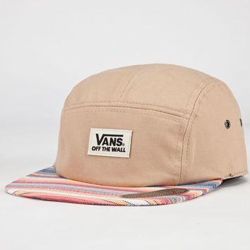 Vans Jaspar Camper Mens 5 Panel Hat Tan One Size For Men 22912241201