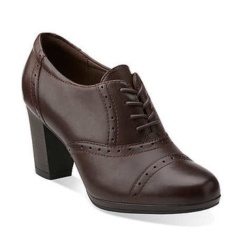 Brynn Marina in Brown Leather - Womens Shoes from Clarks