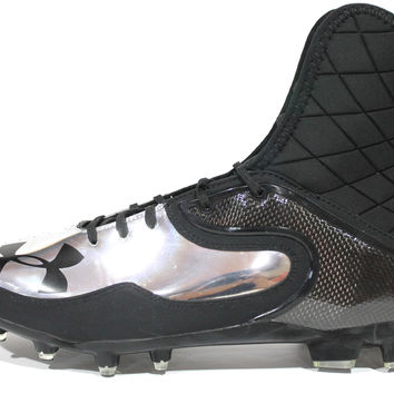 Under Armour Men's Team Cam Highlight MC NFL Black/Chrome Football Cleats 1241958-007