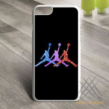 Michael Jordan Retro 7 Raptors Logo Glitter Sparkly Custom case for iPhone, iPod and i