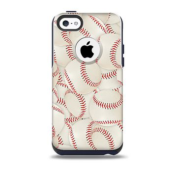 The Baseball Overlay Skin for the iPhone 5c OtterBox Commuter Case