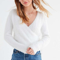 UO Fuzzy Wrap Cardigan | Urban Outfitters