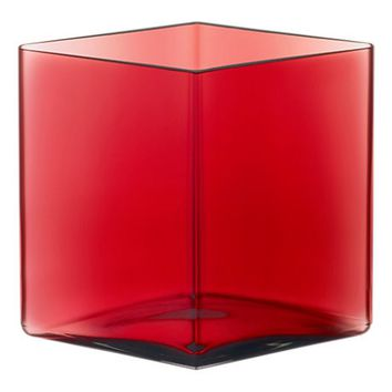 Ruutu Vase Large in Cranberry - Pop! Gift Boutique