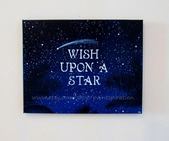 Inspirational Quotes Art Wish Upon A Star From Paintspiration