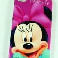 Minnie mouse purple IPhone 4 4G Hard Case Cover