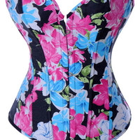 Floral Print Corset with G-string