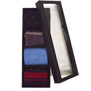 4 pairs Fancy Multi Colored Socks Gift Box Set