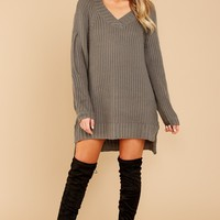 Hometown Girl Charcoal Grey Sweater