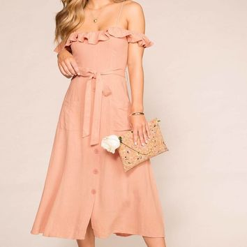 Monterey Peach Maxi Dress