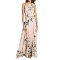 ♡ The tans will fade but the memories will last forever.♡ Summer Style Women Floral Print Chiffon Maxi Dress  Casual Boho