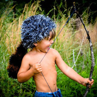 Crochet Pattern for Unisex Coonskin Cap - 5 sizes, baby to adult - Welcome to sell finished items