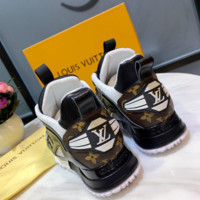 Stylish LV LOUIS VUITTON Collection Fashion Leather Shoes Sneaker