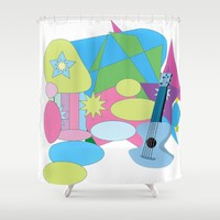 The Blues Shower Curtain by Macsnapshot