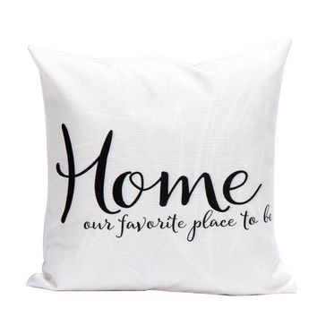 Letters Pillow Case Sofa Waist Throw Cushion Cover Home Decor