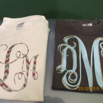 Beautiful Personalized T Shirts Monogrammed and Colors with your choice!!! (depending upon availability)