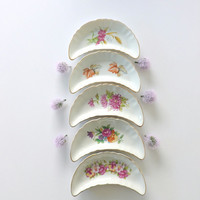 Chadwick Japan Serving Dish Crescent Shaped Bone China 1950's CMI Trinket Dish Candy Dish