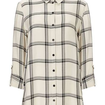 Mono Split Check Shirt - Tops - Apparel
