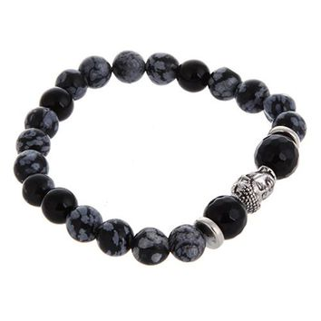 Men' Buddha Bead Chain Bracelet