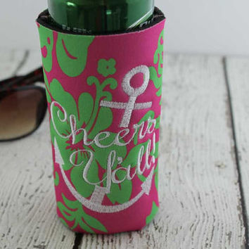 Can Cuddler- Cheers- KOOZIE ®- Can Kooler- Free KOOZIE ®- Personalized Gift- Cheers Yall- 8 oz- Water Bottle- Slim Can- Beer KOOZIE ®