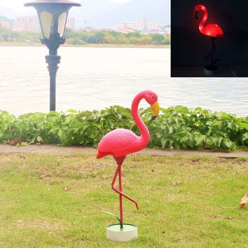 GDF Special offer new no solar power plastic metals Pink FLAMINGO Lawn Ornaments YARD art decor