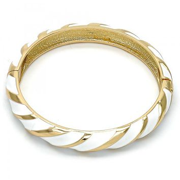 Gold Layered Individual Bangle, Golden Tone