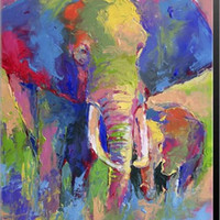 Elephant 1 Canvas Wall Art Print by Richard Wallich