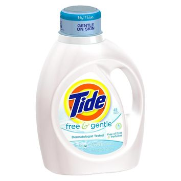 Tide Free & Gentle Liquid Laundry Detergent 75 oz : Target
