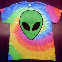 Alien Head Tie-Dye T-Shirt