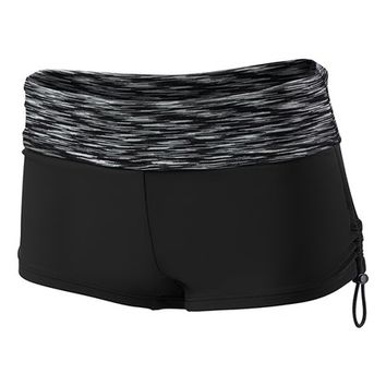 Black & Charcoal Sonoma Della Boyshort Bikini Bottoms