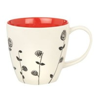 Red 'Rambling rose' mug - Mugs - Dinnerware - Home & furniture -