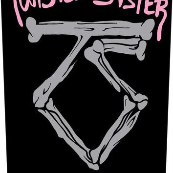 Twisted Sister Sew On Canvas Back Patch We're Not Gonna Take It Logo