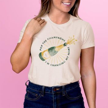 Pop The Champagne Womens Shirt