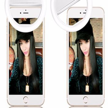 selfie led ring light 36 leds 3 brightness levels clip on all mobile phone - cpc36ledring