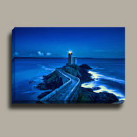 Plouzane Lighthouse Painting | Professional Matte Canvas